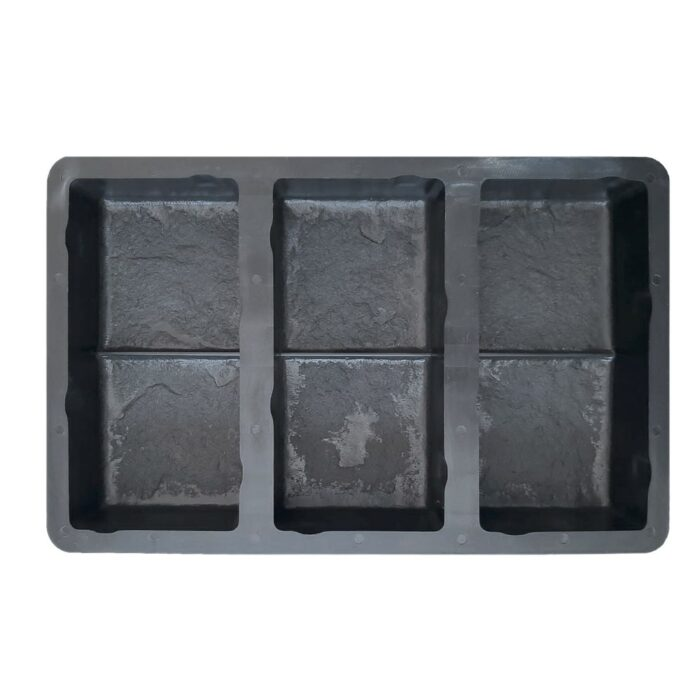 Double Cobblestone Rockface Paver Mould