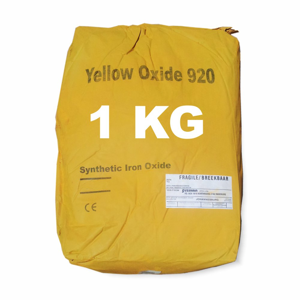 1 Kilogram Yellow Oxide for mixing into concrete or cement
