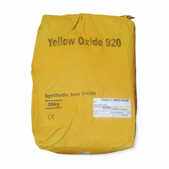 Yellow Oxide for mixing into concrete or cement