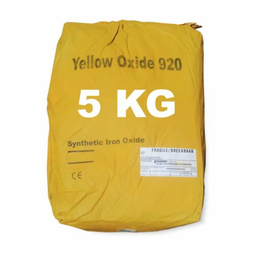 5 Kilogram Yellow Oxide for mixing into concrete or cement