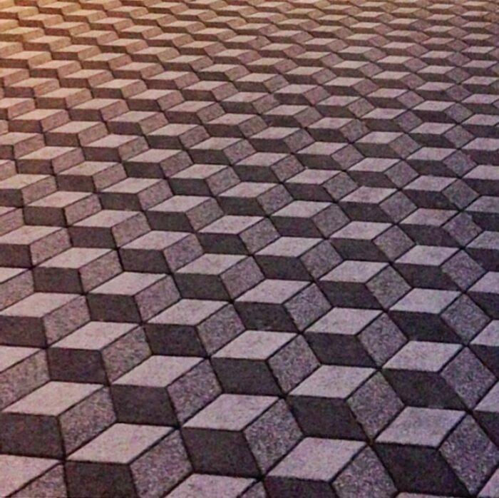3D Effect Paver Brick Layout