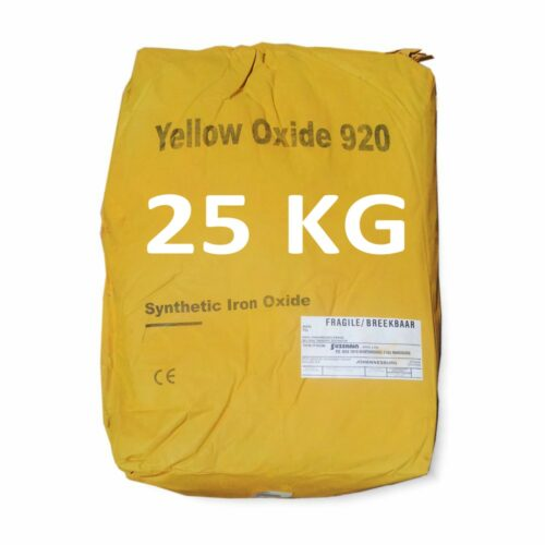 25 Kilogram Yellow Oxide for mixing into concrete or cement