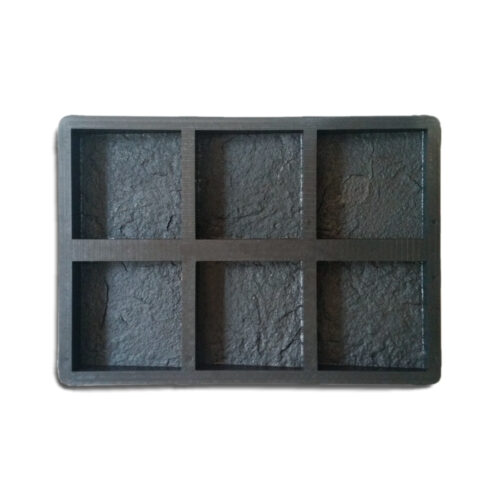 Mold for casting cement wall cladding 6 cavities