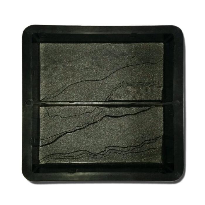 Mold for casting slate finished paver bricks 200mm x 100mm x 50mm