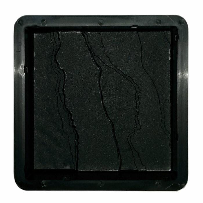 Mold for casting slate finished paver bricks 170mm x 170mm x 40mm